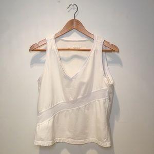 Karma workout tank top, v-neck,white & off white